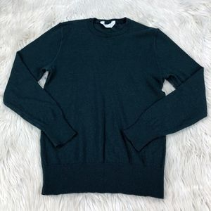 Everlane Forest Green Wool Crew Neck Sweater